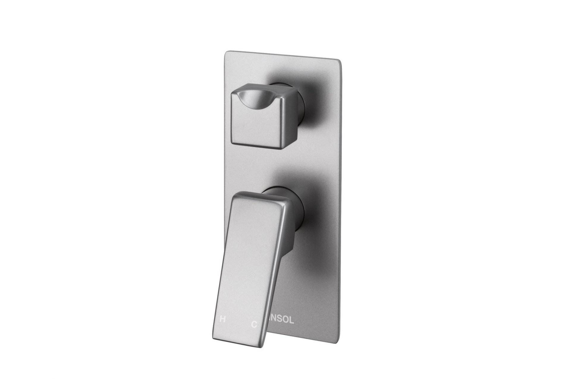 Madi Wall Mixer With Diverter- Grey Wolf