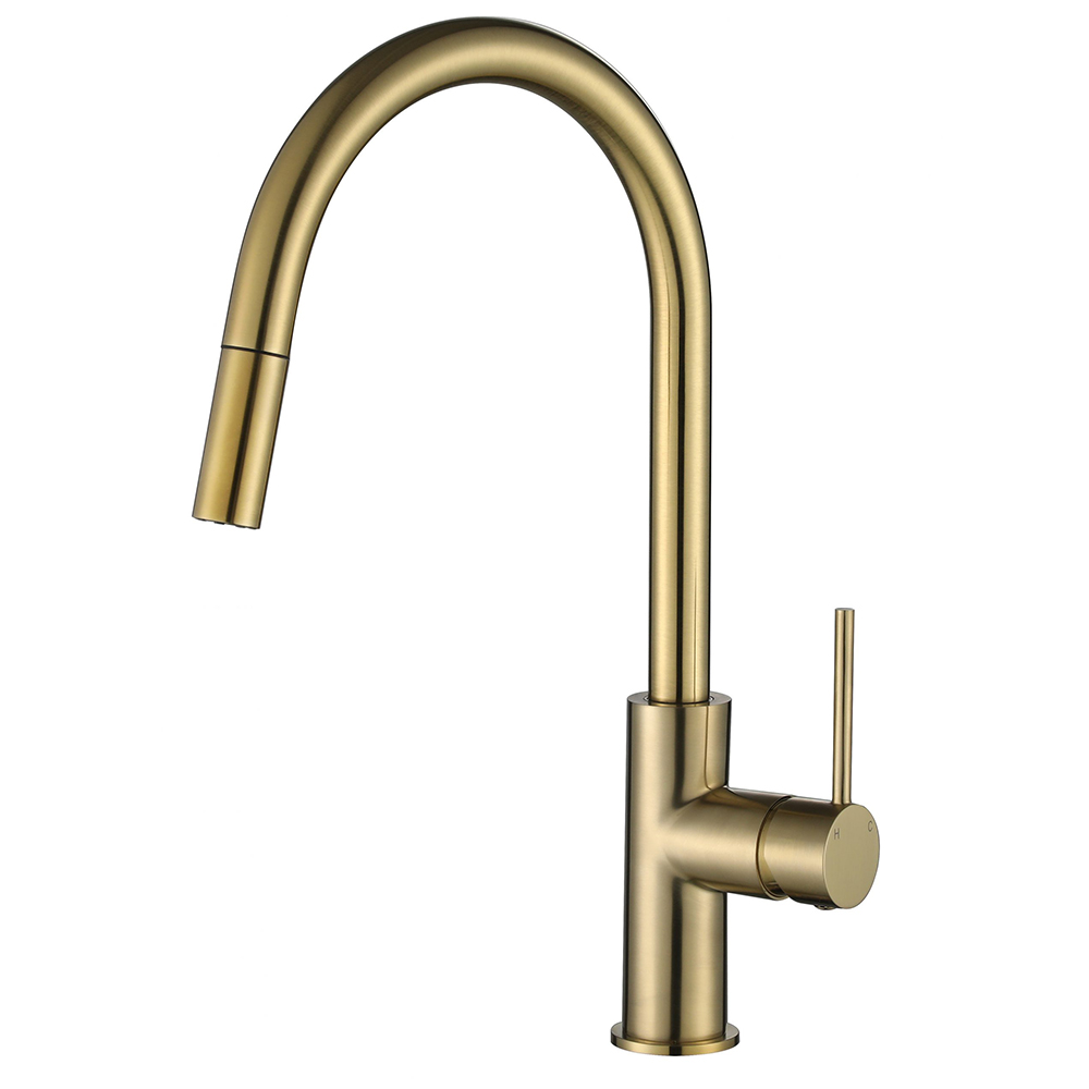 Star Mini Pull Out Kitchen Mixer-PVD Brushed Bronze