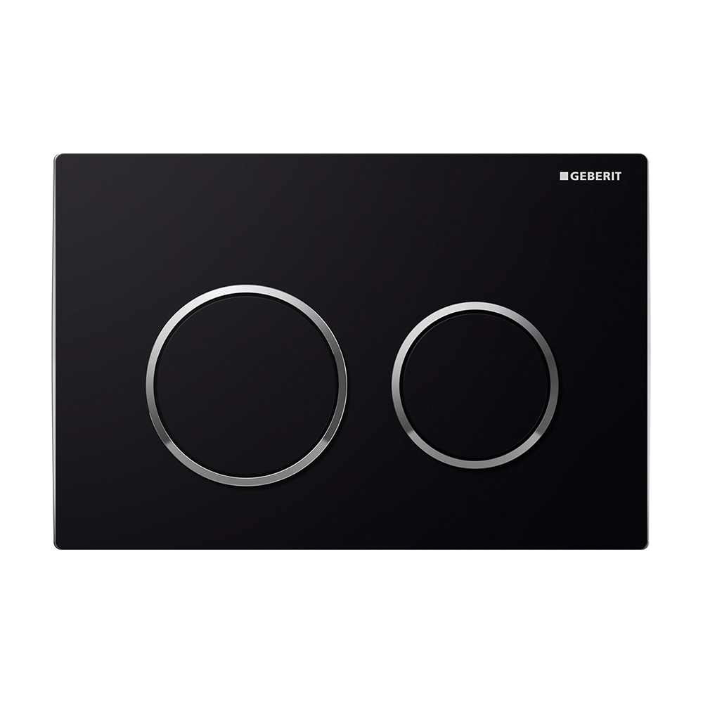 Kappa21 Dual Flush Button- Black