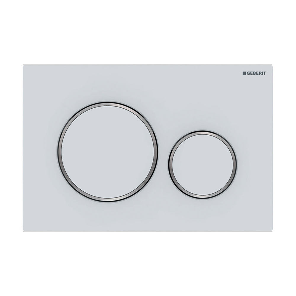 Sigma20 Dual Flush Button- Finger Print Resistant Matt White