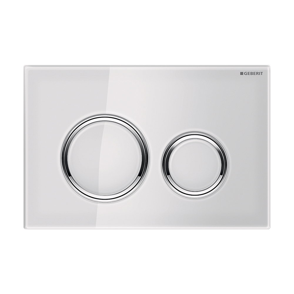 Sigma21 Dual Flush Button- White