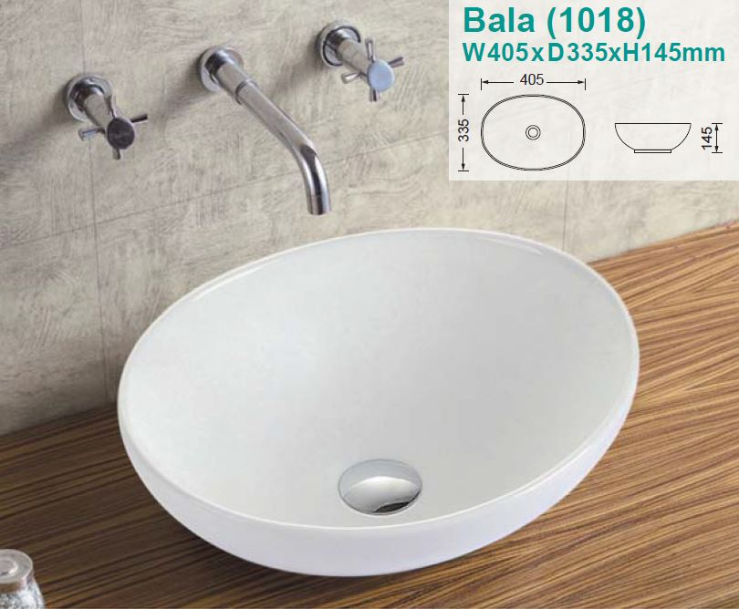 Bala Over-Counter Ceramic Basin