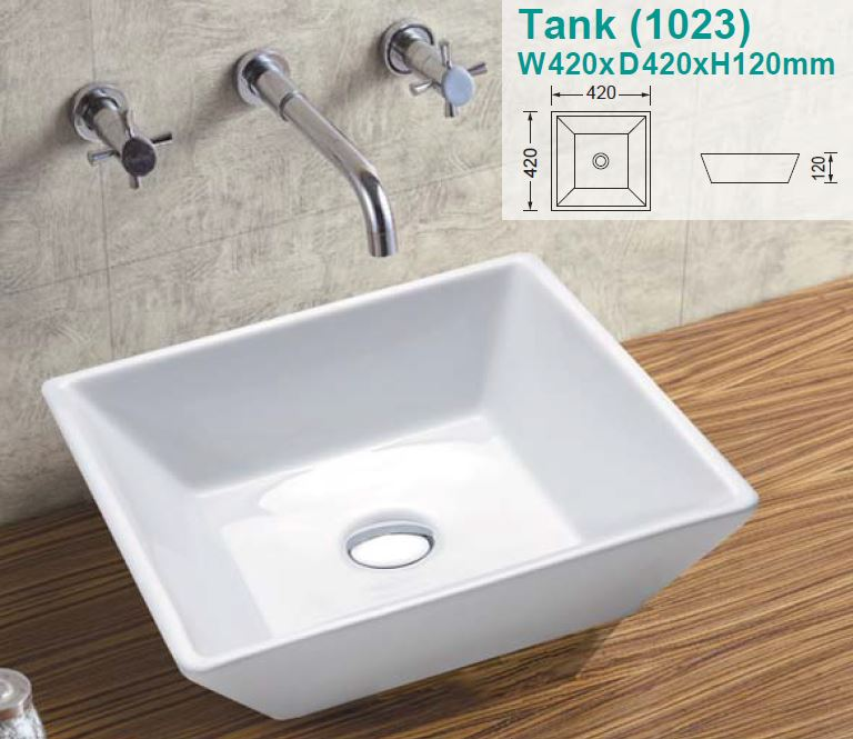 Tank Over-Counter Ceramic Basin