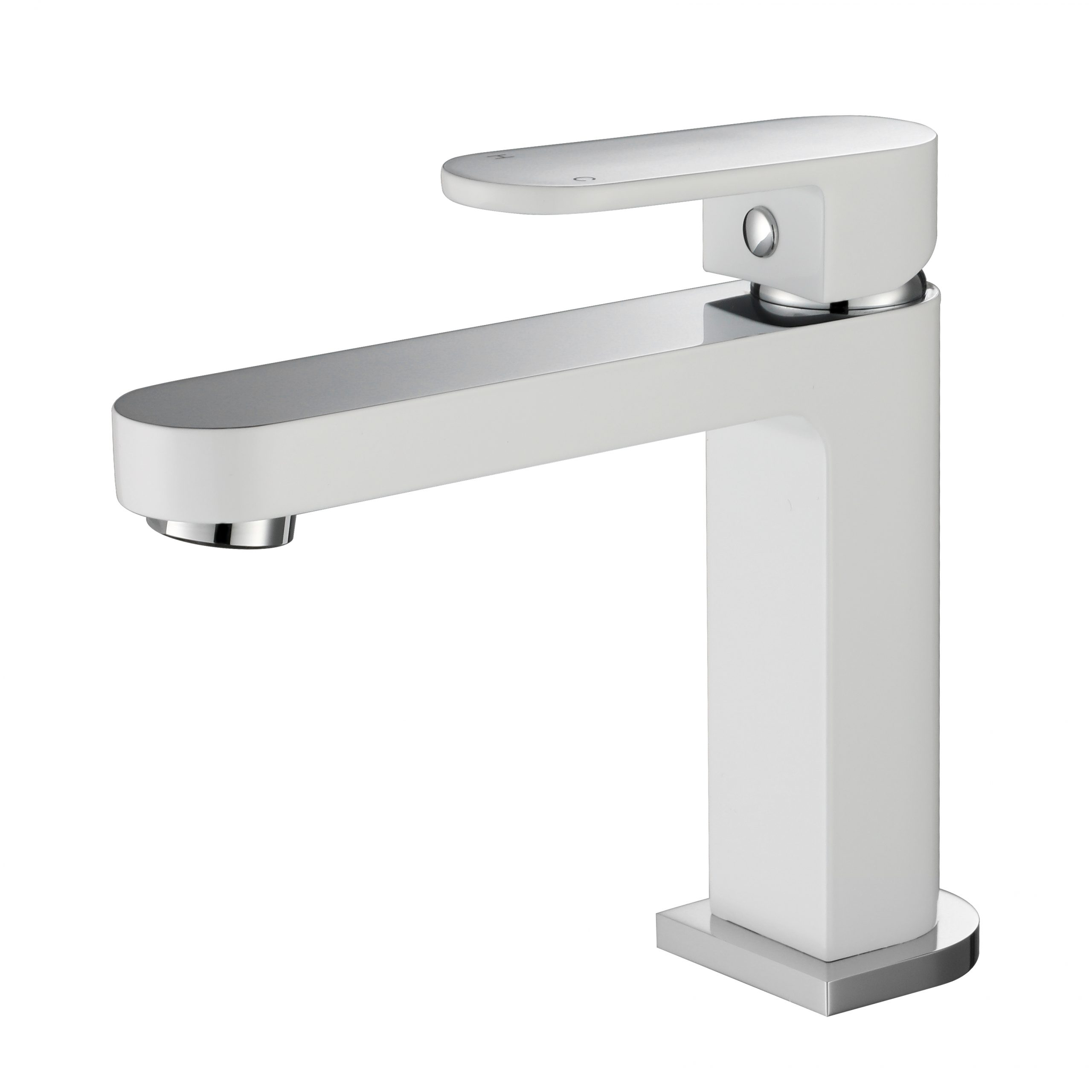 Eva Mini Basin Mixer-Chrome & White