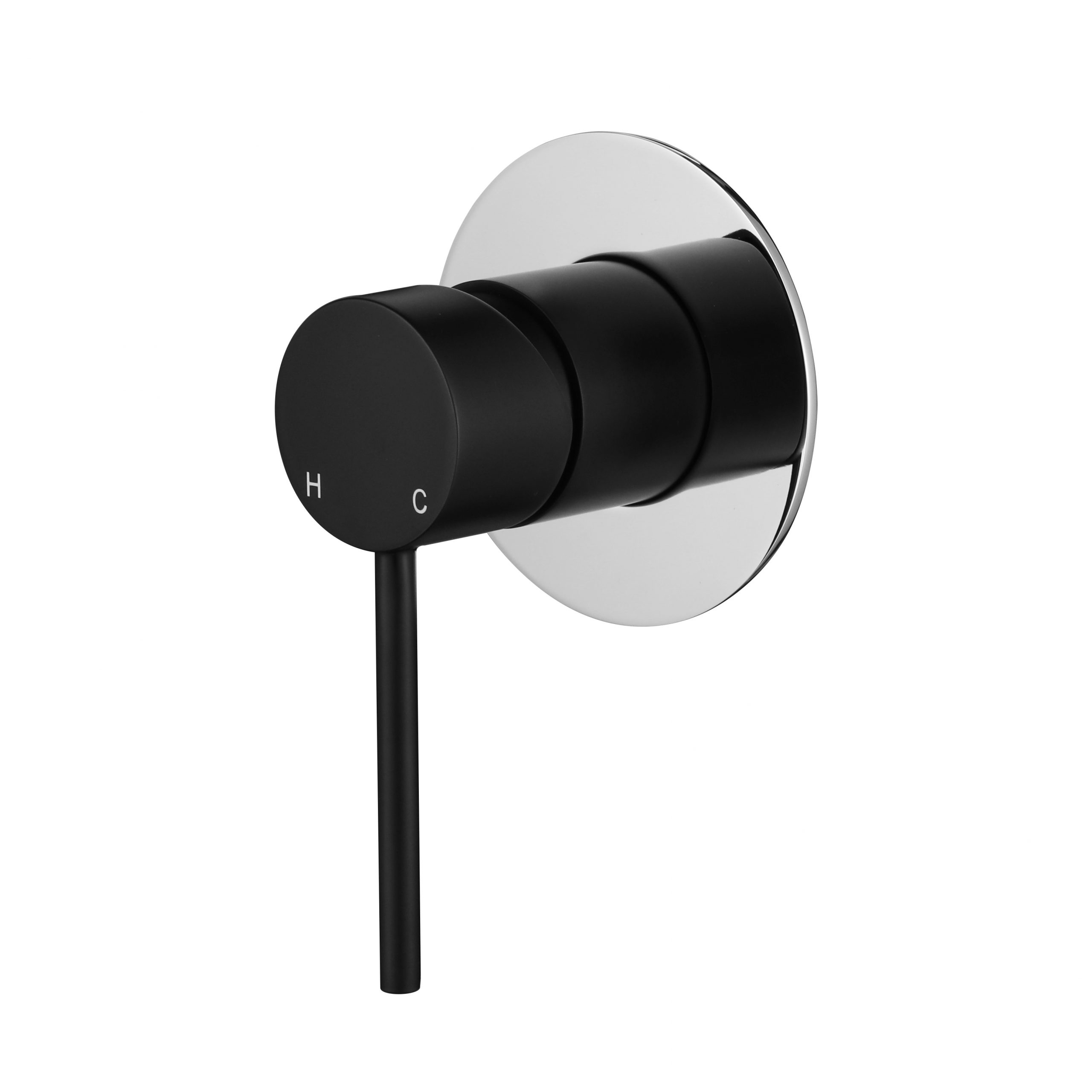 Star Mini Shower Mixer-Chrome & Matt Black