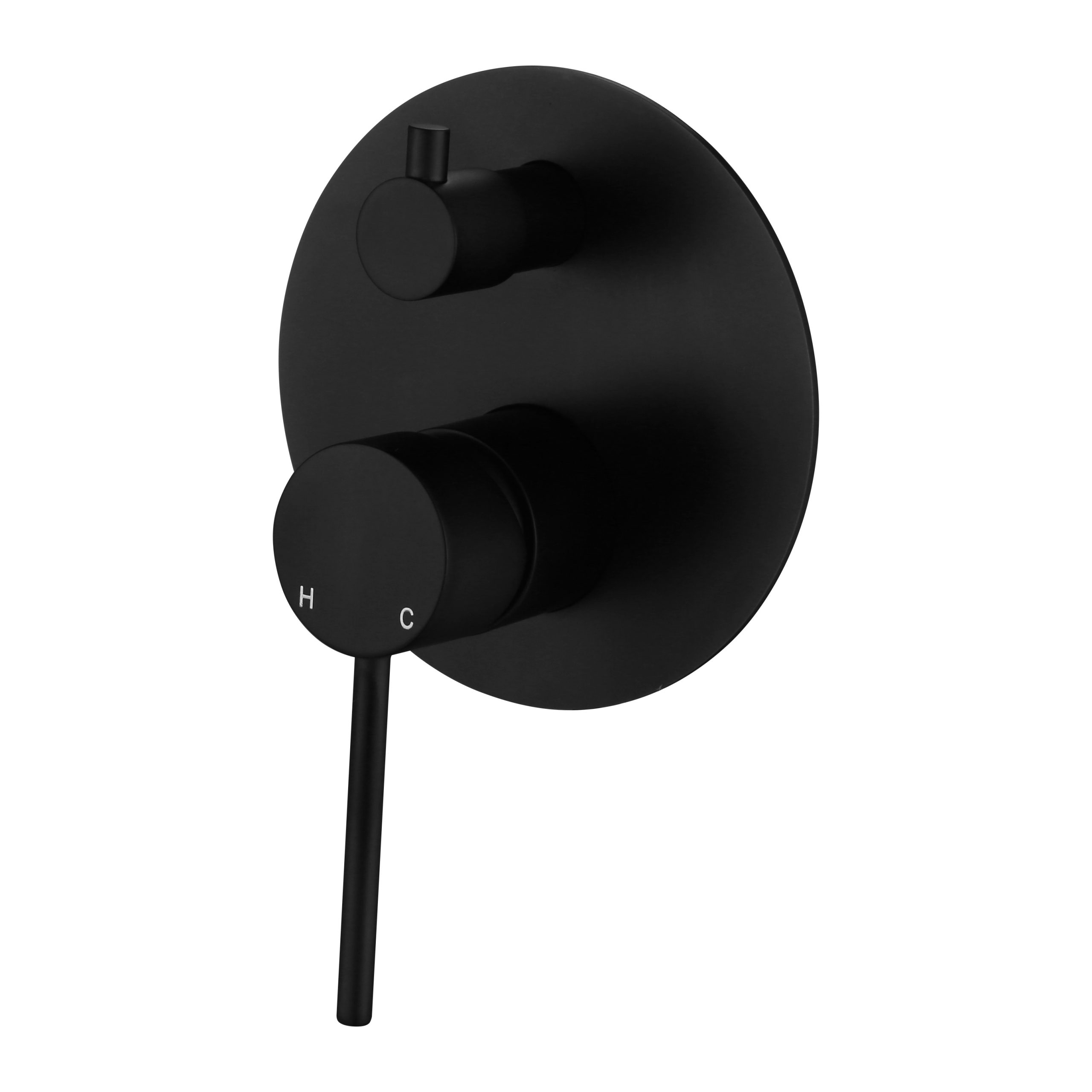 Star Mini Shower Divertor-Matt Black