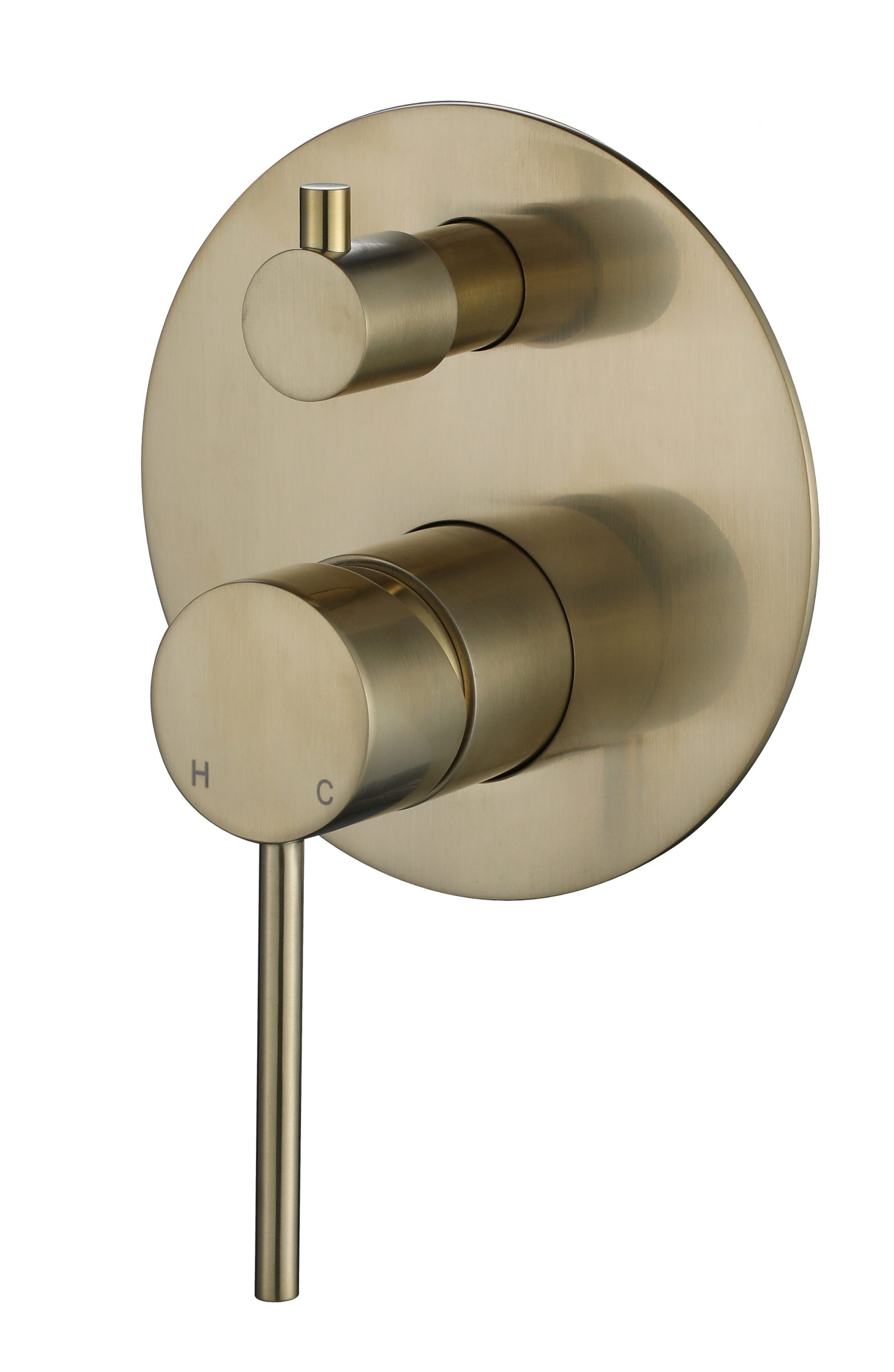Star Mini Shower Divertor-PVD Brushed Bronze