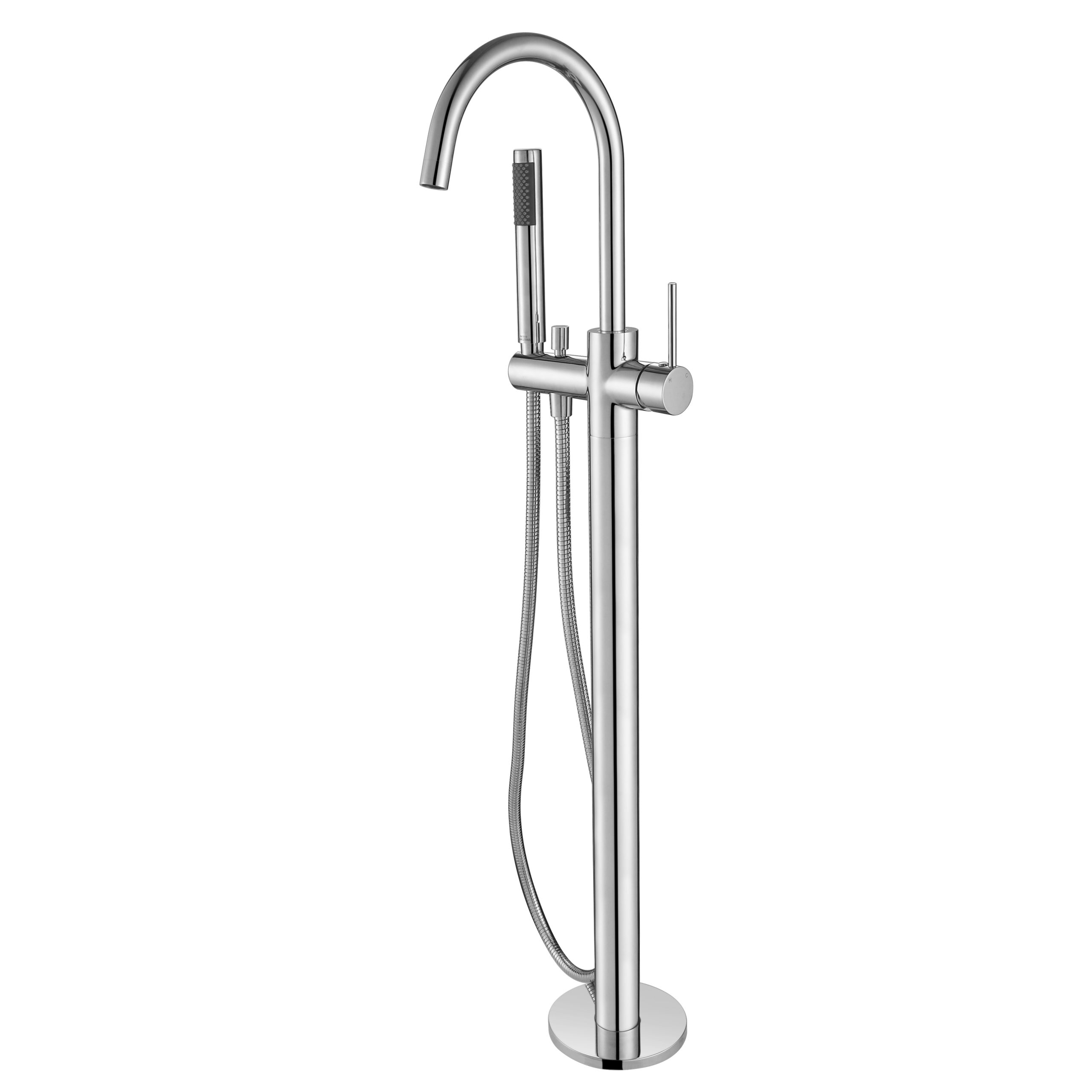 Star Free Standing Bath Mixer With Hand Shower-Chrome