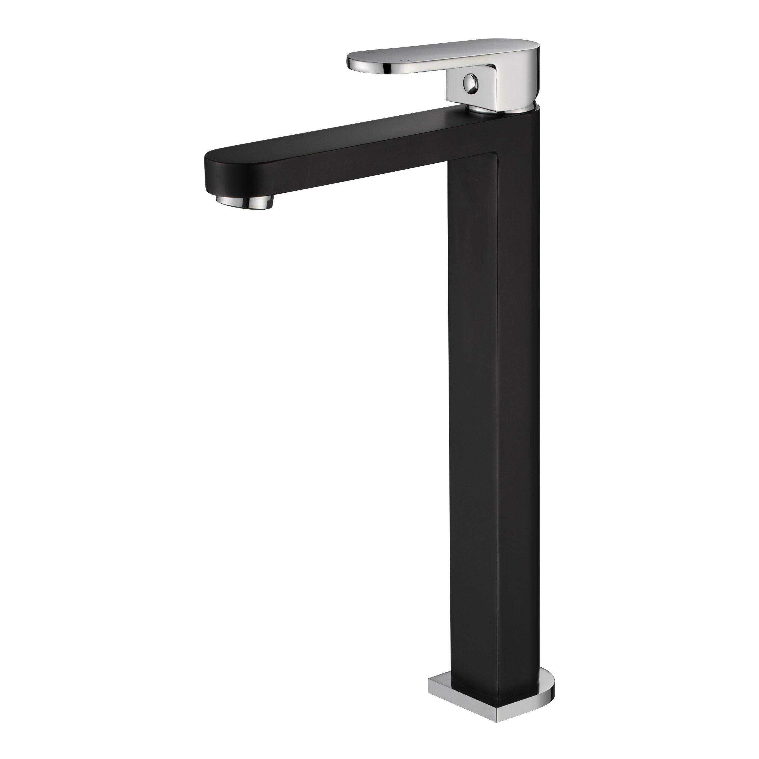 Eva Mini High Basin Mixer-Matt Black & Chrome R1