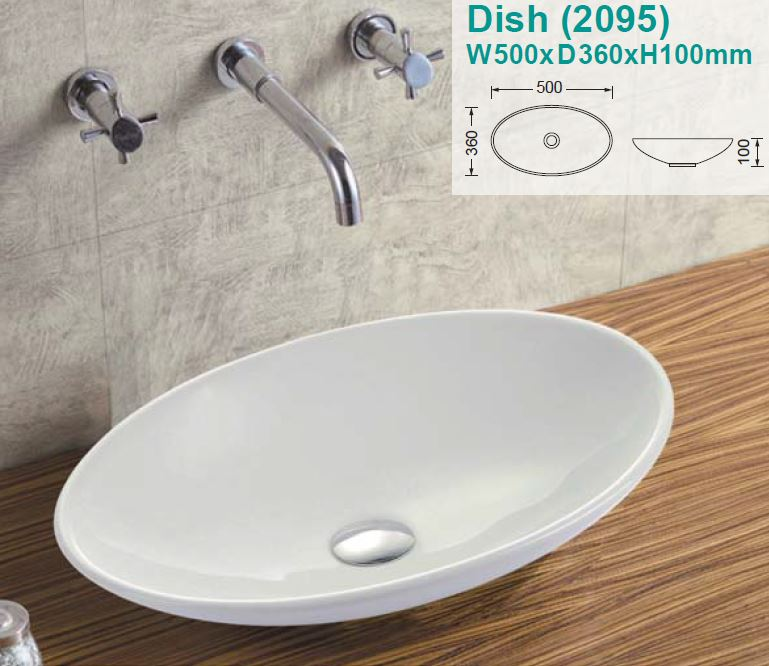 Dish Over-Counter Ceramic Basin