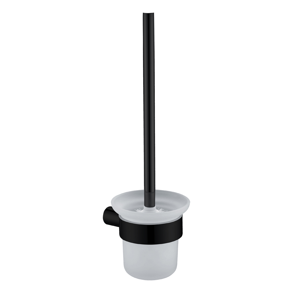 Curve Toilet Brush Holder-Matt Black