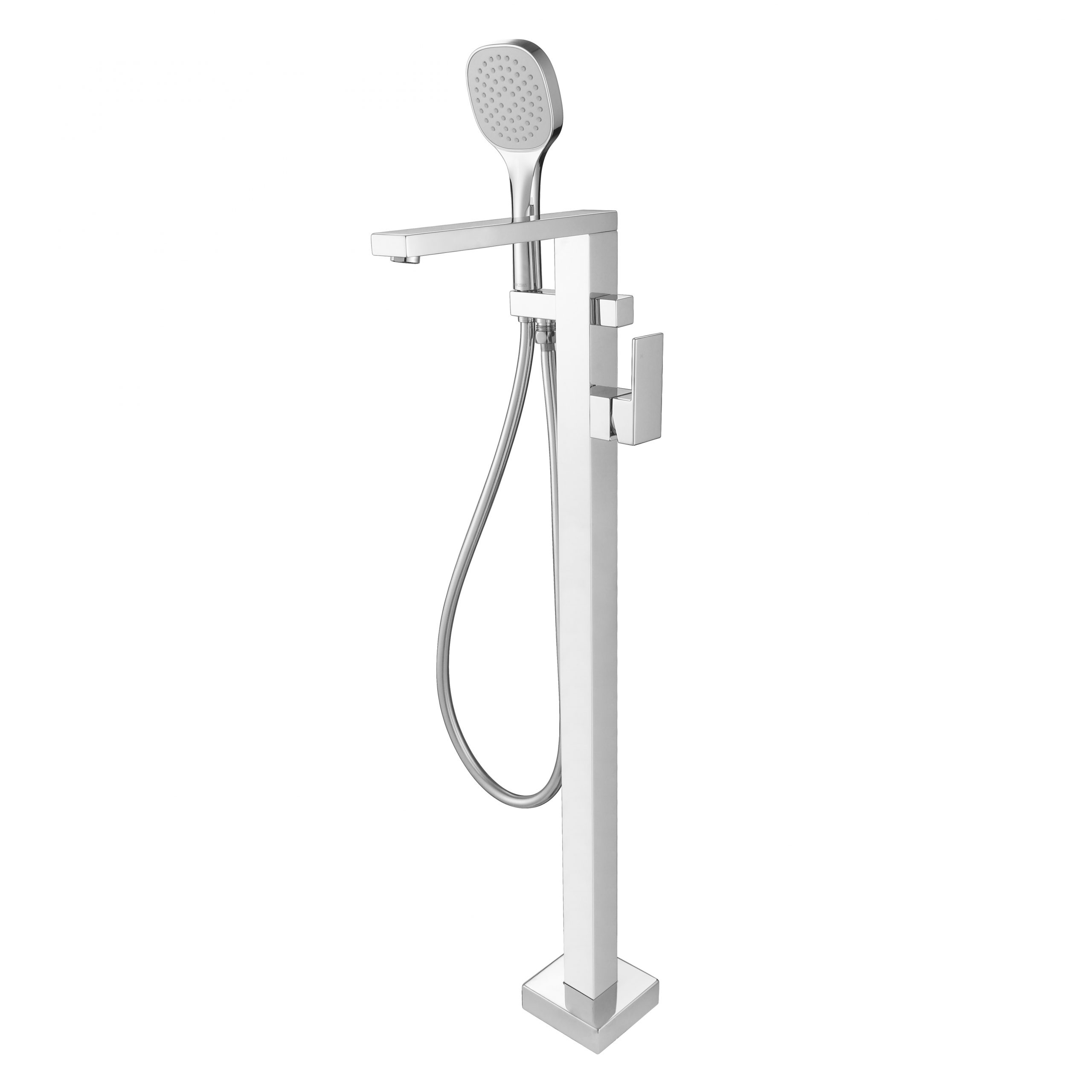 Chao Free Standing Bath Mixer With Hand Shower-Chrome