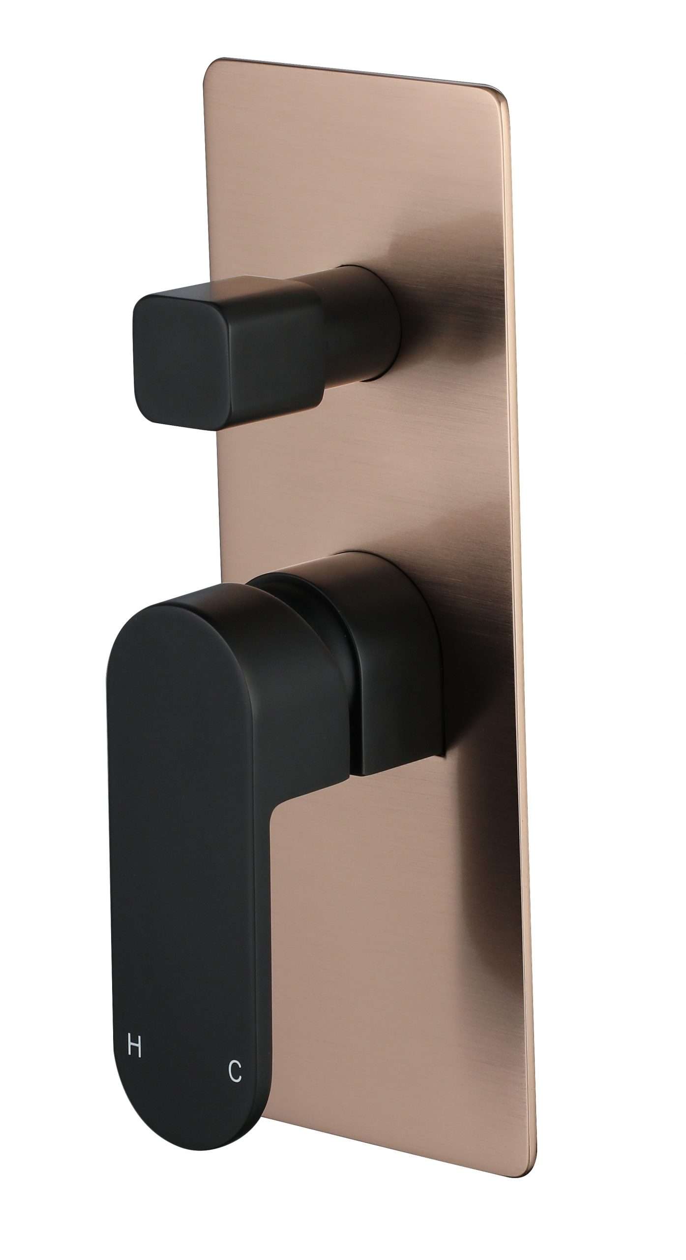 Eva Mini Shower Divertor-Matt Black & Flemish Copper