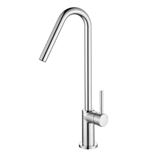 High Gooseneck Kitchen Mixer Chrome