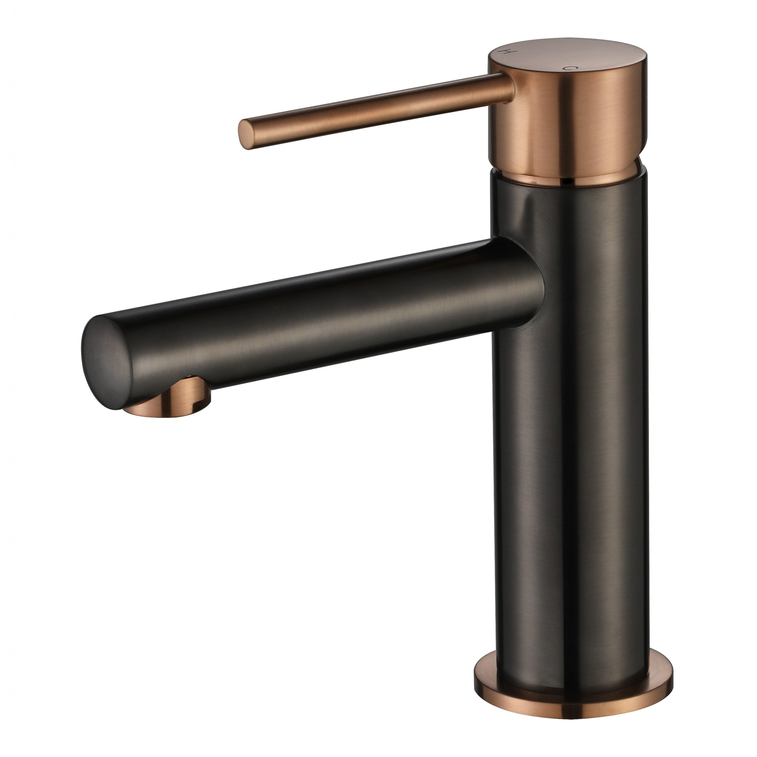 Star Mini Basin Mixer-PVD Champagne & Gun Metal