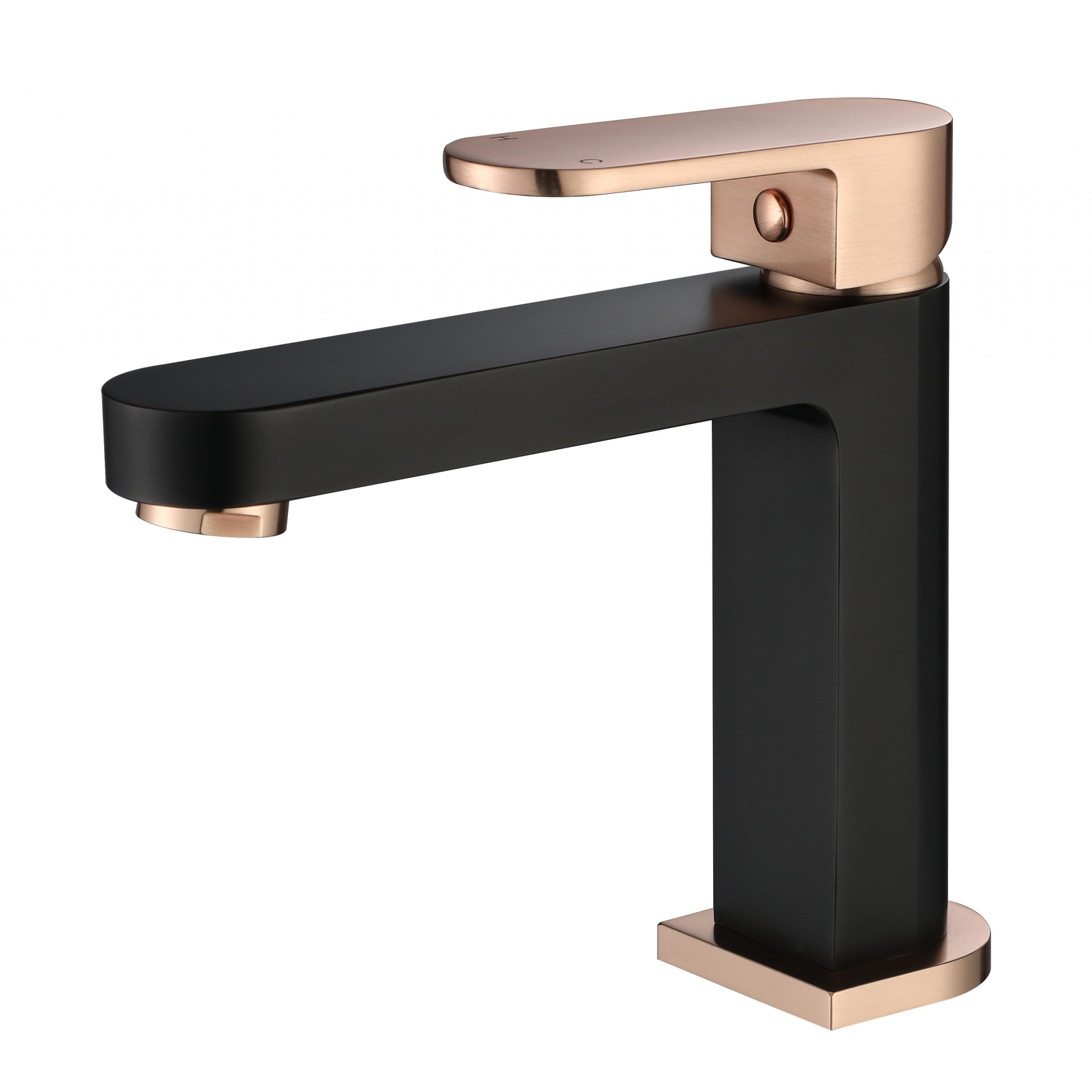 Eva Mini Basin Mixer-Matt Black & Flemish Copper