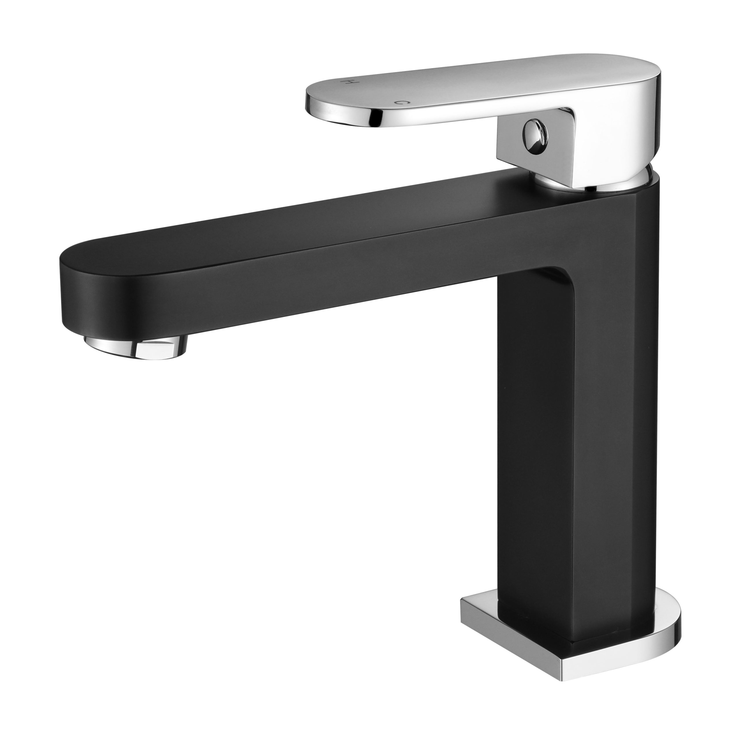Eva Mini Basin Mixer-Matt Black & Chrome R1