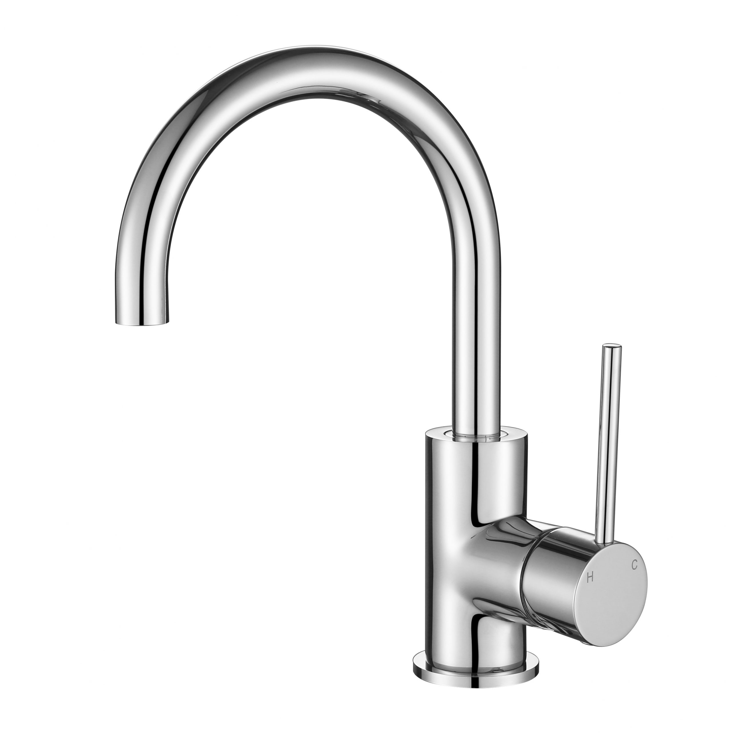 Star Mini Gooseneck Basin Mixer Chrome