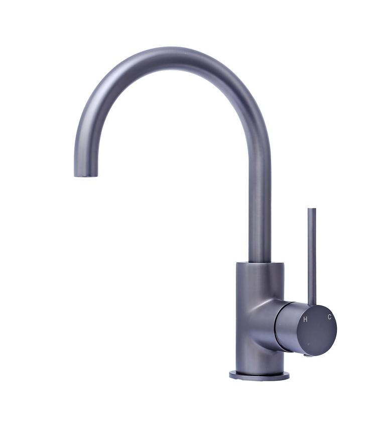 Star Mini Gooseneck Basin Mixer Gun Metal