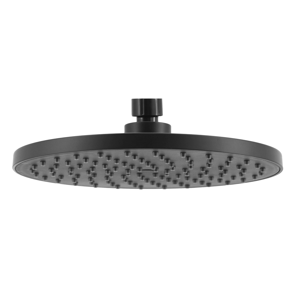 ABS 215mm Round Shower Head Matte Black