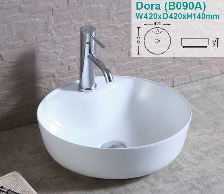 Dora Over-Counter Ceramic Basin