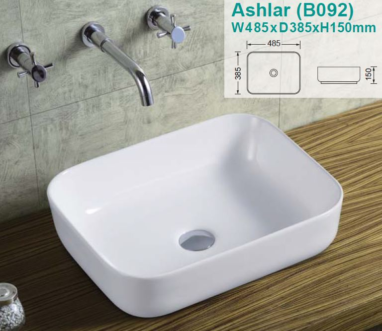 Ashlar Over-Counter Ceramic Basin