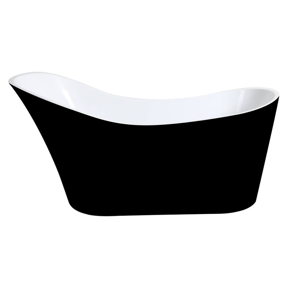 Bevel 1700 Black Freestanding Bathtub
