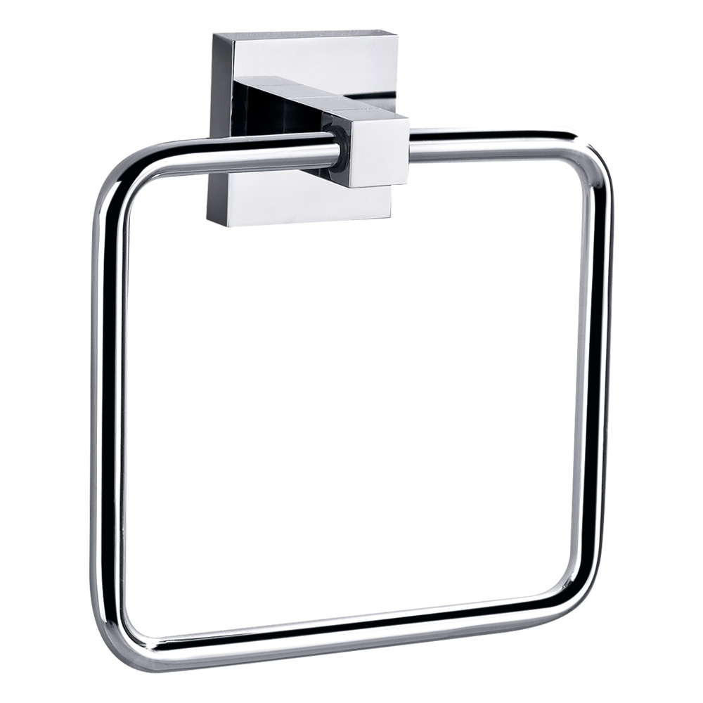 Bold Towel Ring Chrome