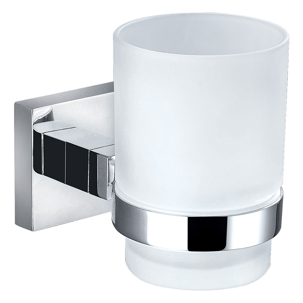 Bold Single Tumbler Holder-Chrome
