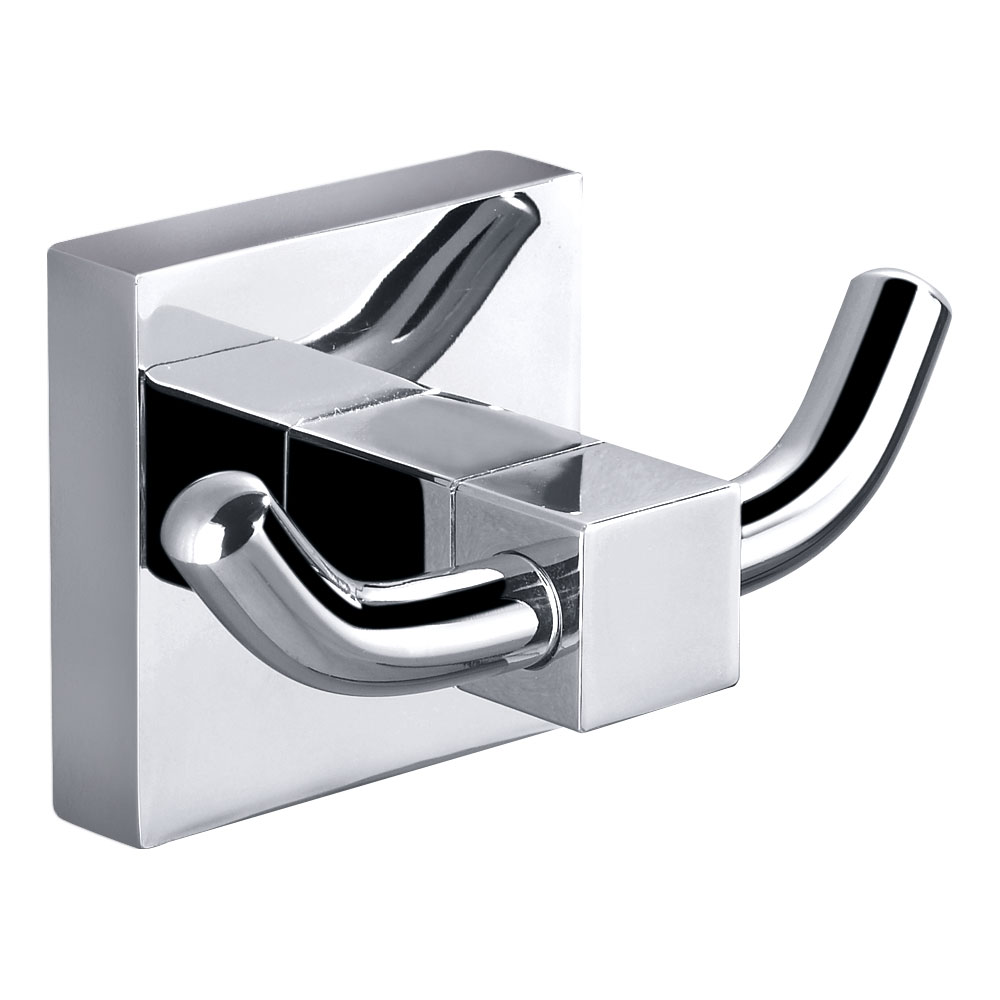 Bold Double Robe Hook-Chrome
