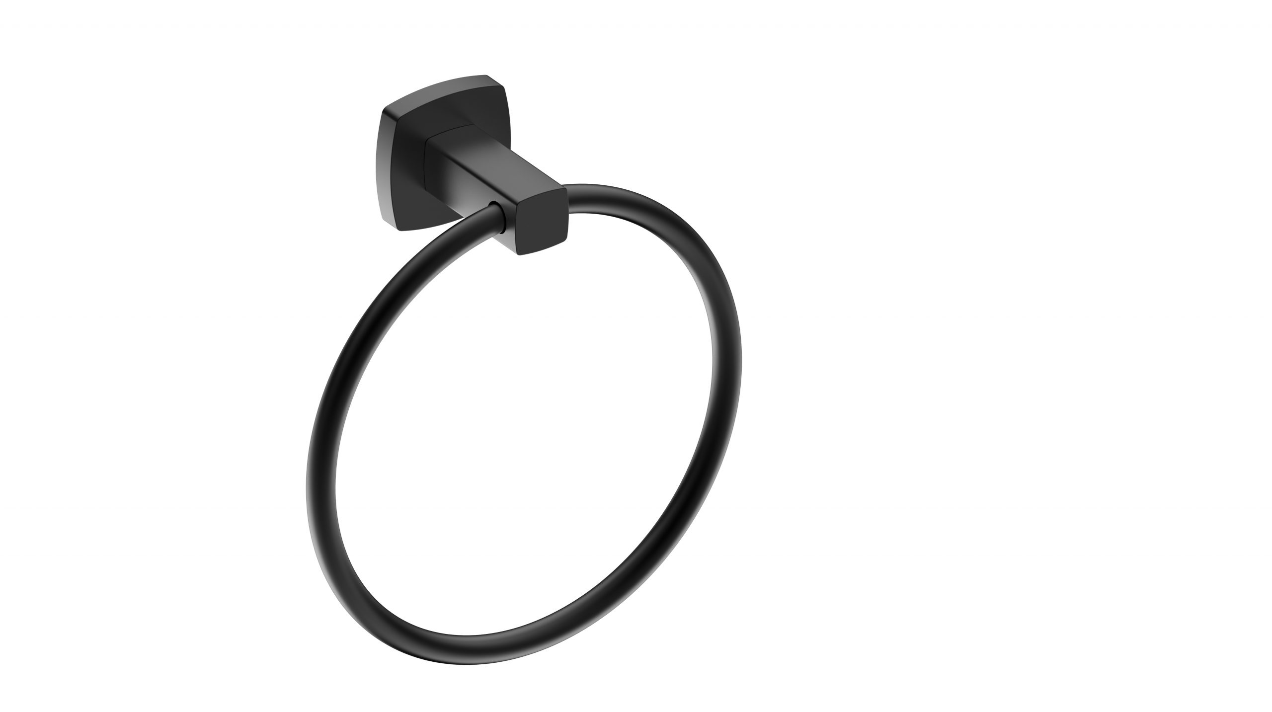 Luxus Towel Ring-Matt Black