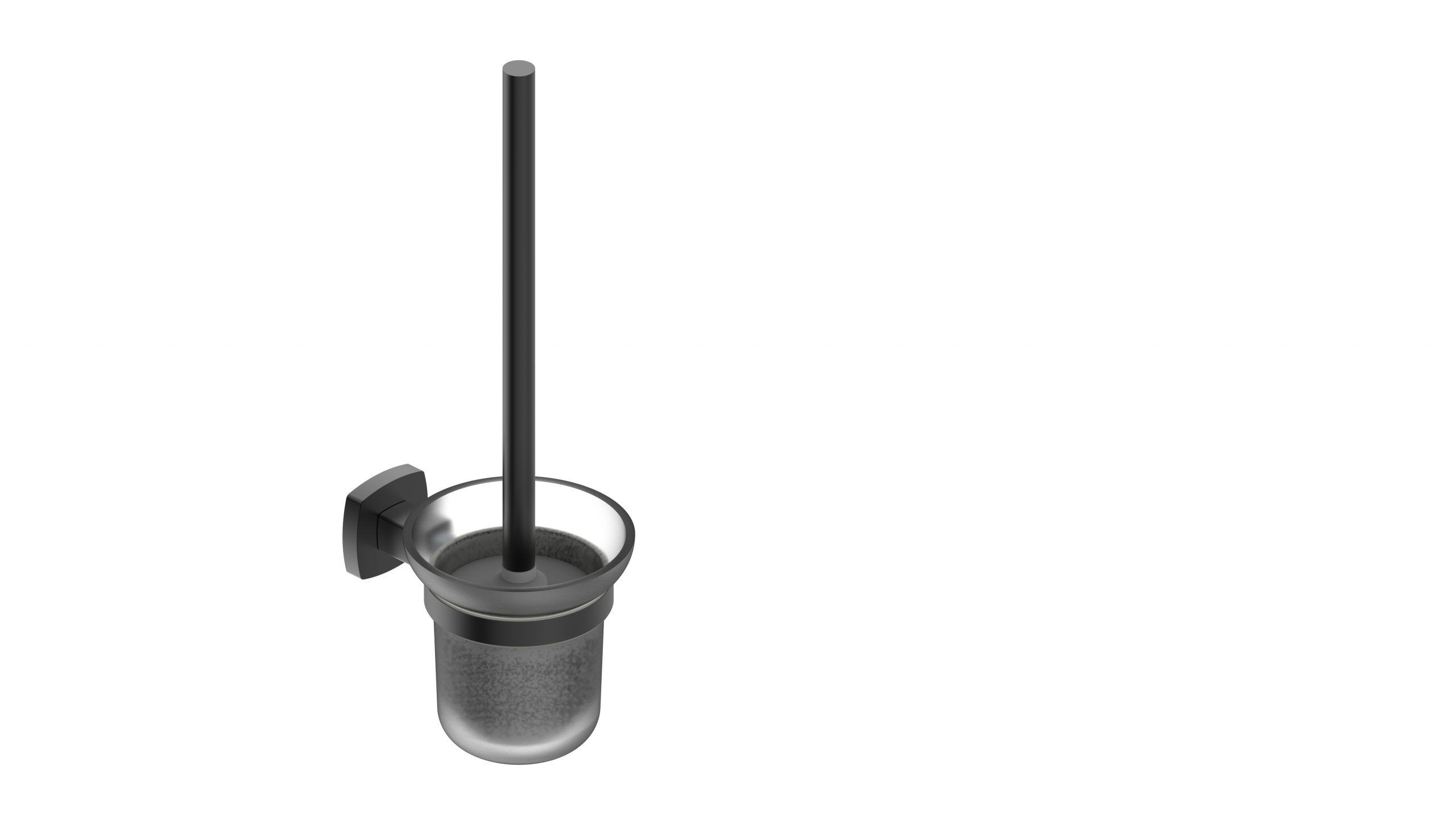 Luxus Toilet Brush Holder-Matt Black