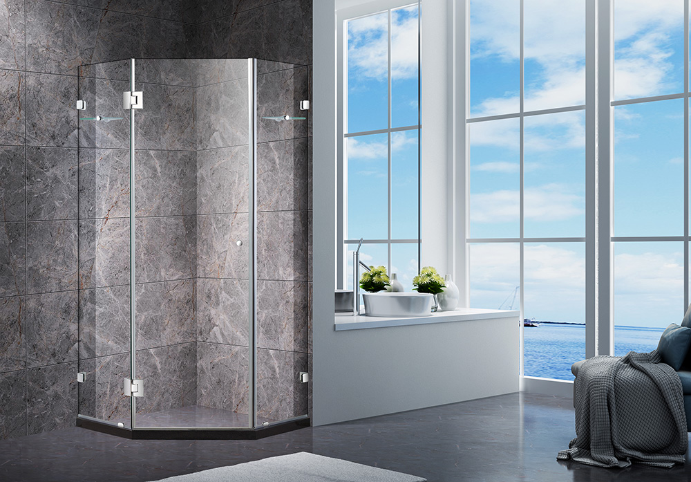 Diamond 900 x 900mm Frameless Shower Screen