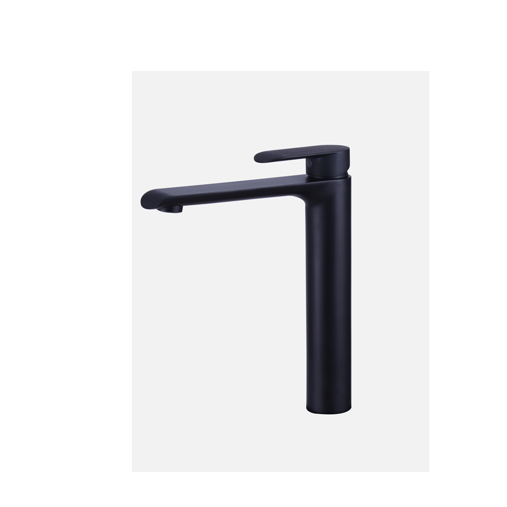 Curve Tall Basin Mixer-Matt Black
