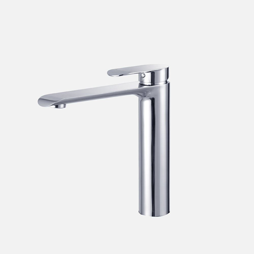 Curve Tall Basin Mixer-Chrome