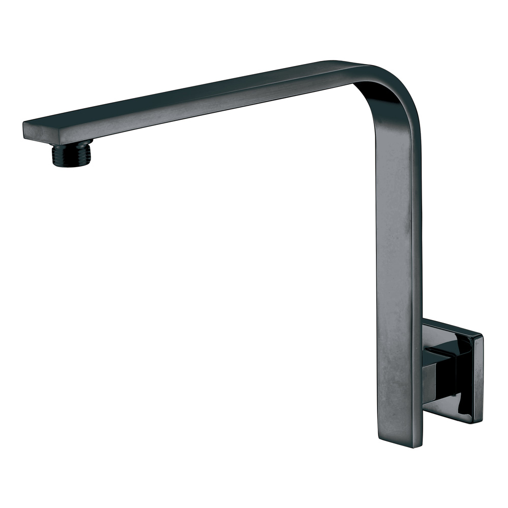 Curved Square Shower Arm-Matt Black