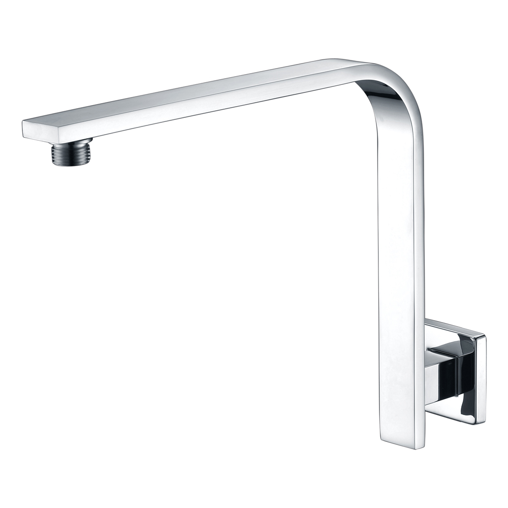 Curved Square Shower Arm-Chrome