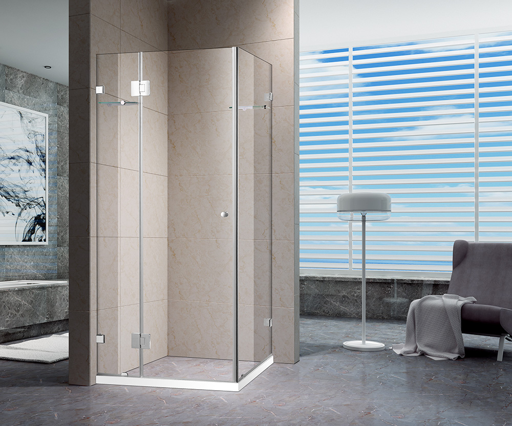 1000 x 1000mm Square Frameless Shower Screen