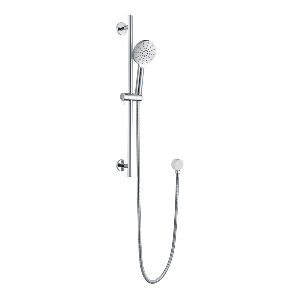 Round Shower On Rail-Chrome