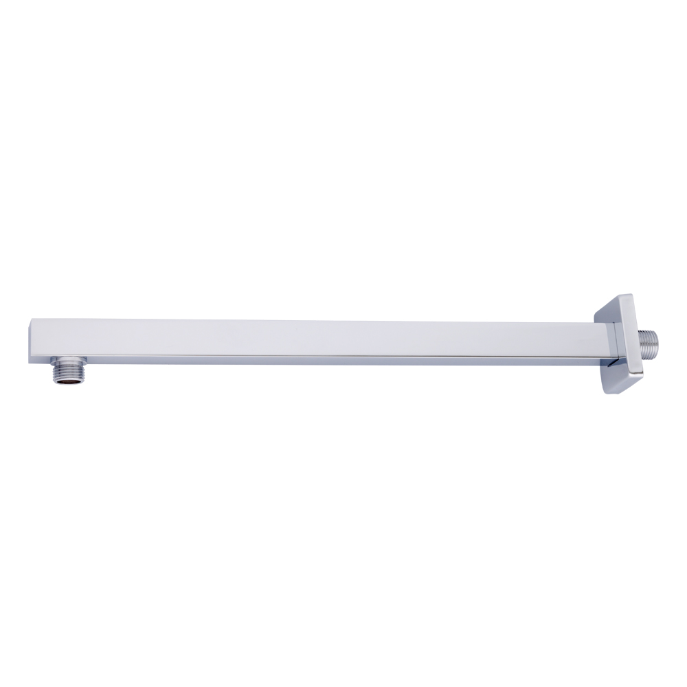 Straight Square Wall Arm 400mm-Chrome