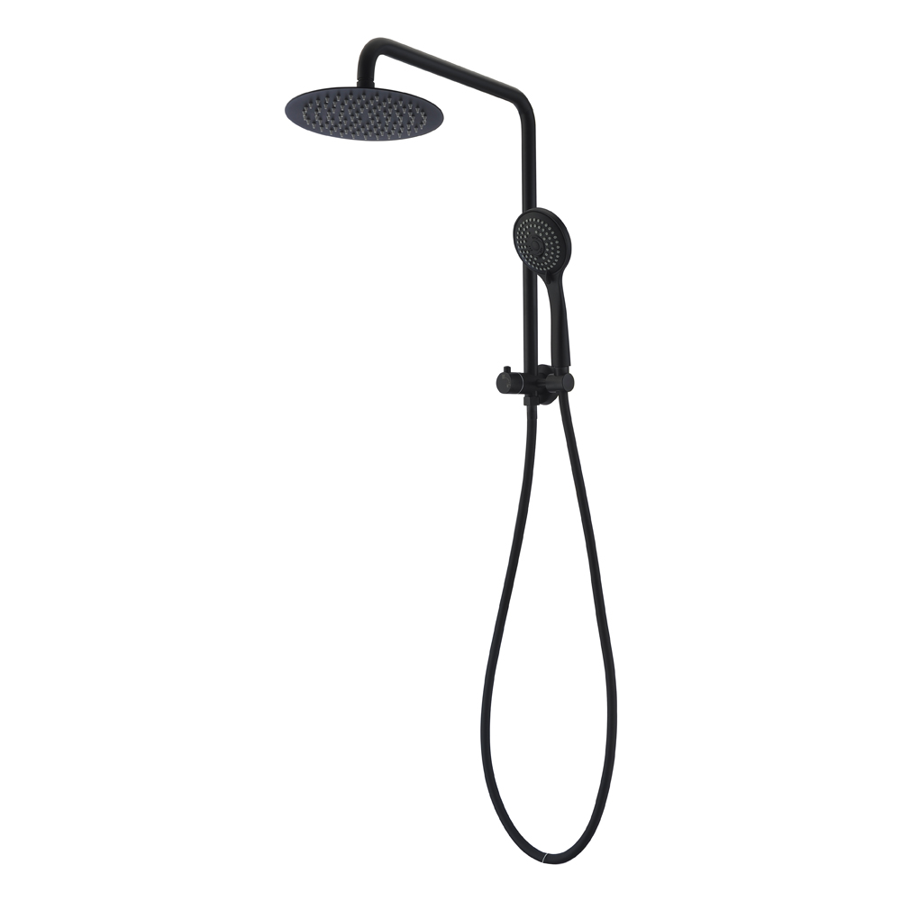 Helena Twin Shower Combo Half Rail Matte Black