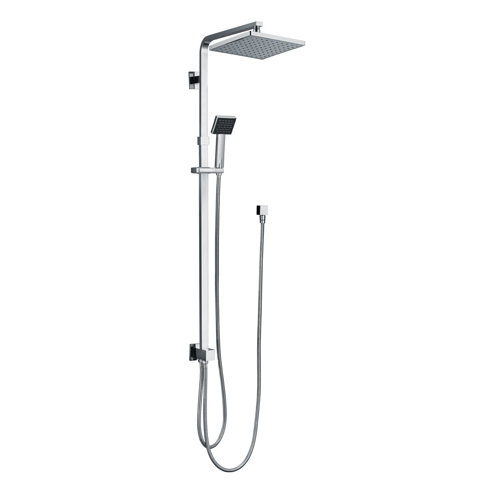 Chao Twin Shower System-Double Hose Chrome