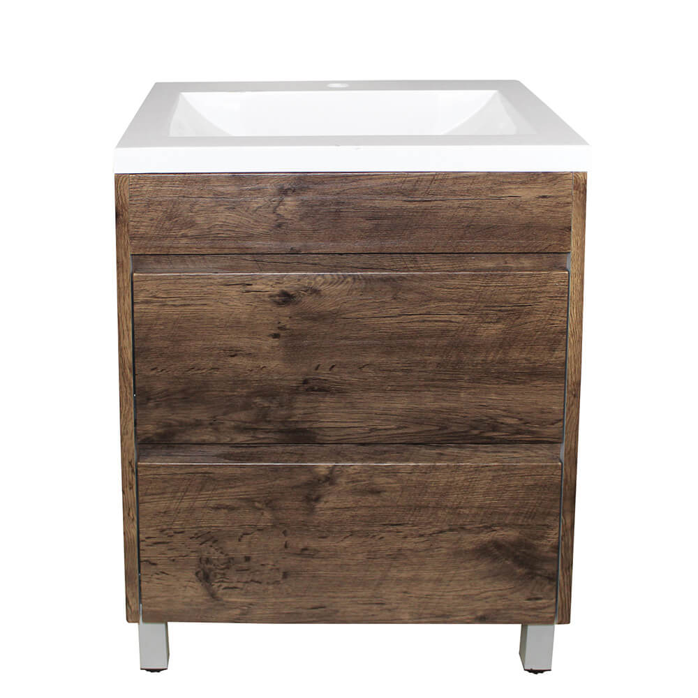 Paris 600 Vanity On Legs - Dark Oak