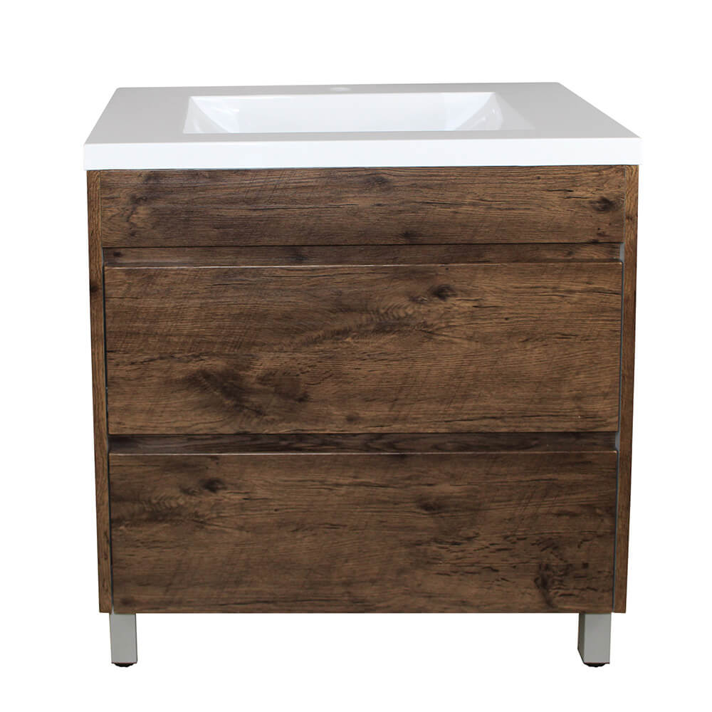 Paris 750 Vanity On Legs - Dark Oak