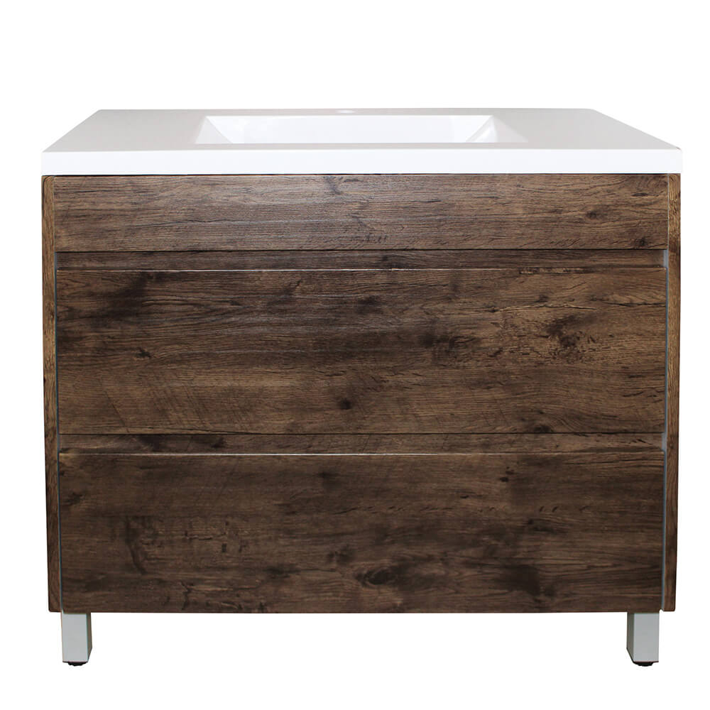 Paris 1200 Vanity On Legs - Dark Oak