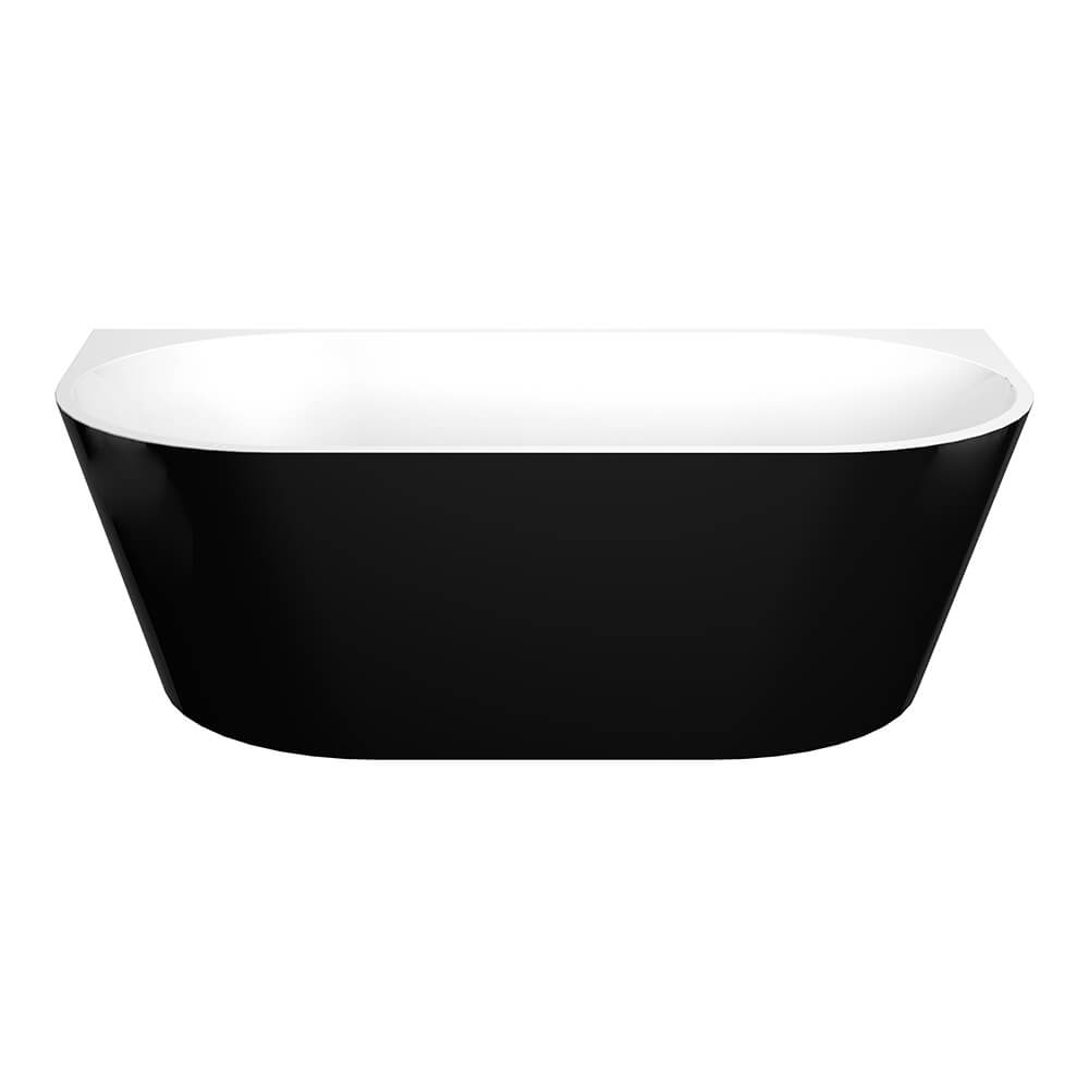 Elivia 1500 Black Back To Wall Freestanding Bathtub
