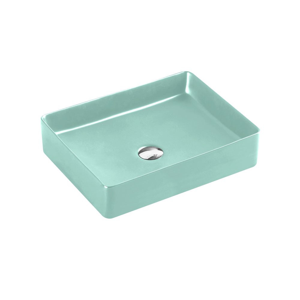 Etna Rectangular Counter Basin - Antique Green