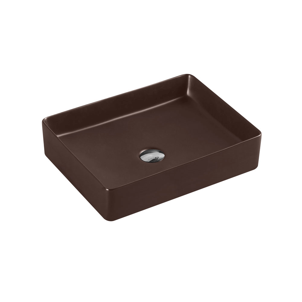 Etna Rectangular Counter Basin - Cappucino