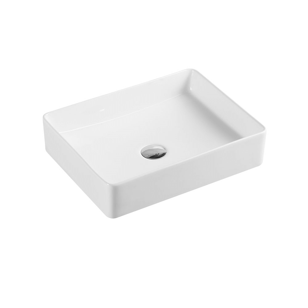 Etna Rectangular Matte White Counter Basin