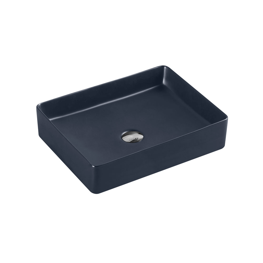 Etna Rectangular Nero Grey Counter Basin